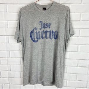 Tultex gray Jose Cuervo alcohol graphic tee large